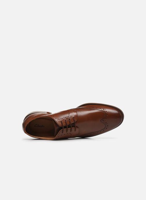 Zapatos con cordones Clarks Stanford Limit Marrón vista lateral izquierda