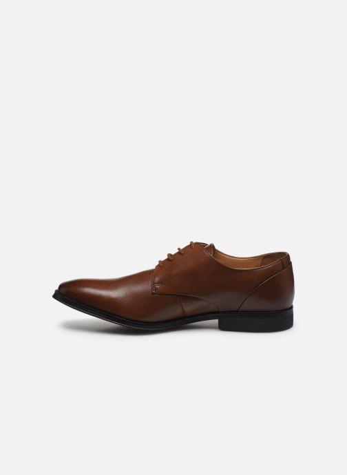 Chaussures à lacets Clarks Gilman Plain Marron vue face