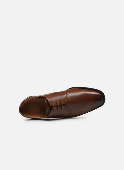 Chaussures à lacets Clarks Gilman Plain Marron vue gauche