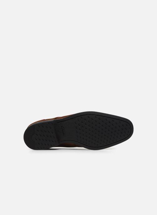 Chaussures à lacets Clarks Gilman Plain Marron vue haut