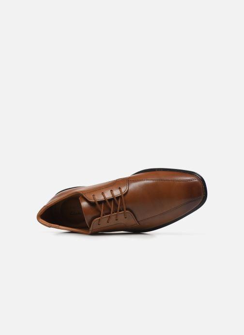 Zapatos con cordones Clarks Bensley Run Marrón vista lateral izquierda
