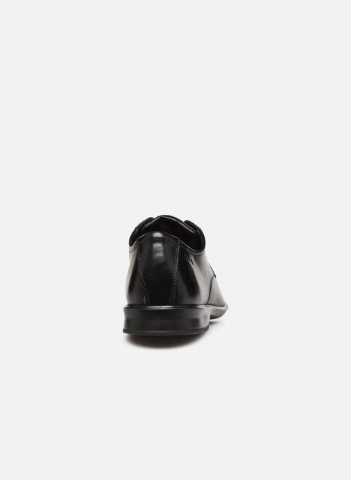 Zapatos con cordones Clarks Bensley Run Negro vista lateral derecha