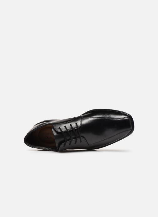 Zapatos con cordones Clarks Bensley Run Negro vista lateral izquierda