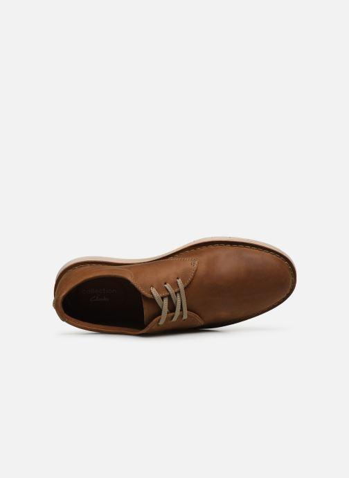 Chaussures à lacets Clarks Forge Vibe Marron vue gauche