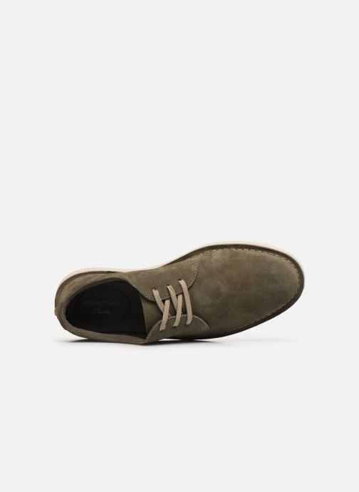 Zapatos con cordones Clarks Forge Vibe Verde vista lateral izquierda
