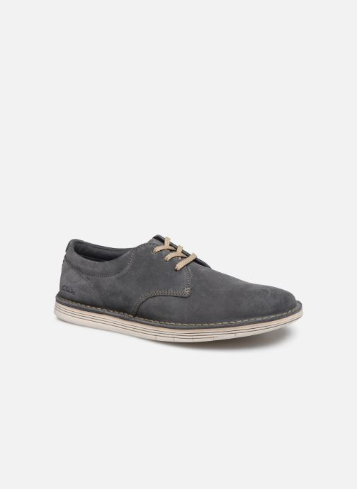 Lace-up shoes Clarks Forge Vibe Grey detailed view/ Pair view