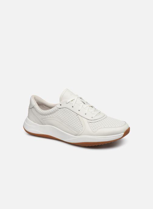 Baskets Clarks Sift Speed Blanc vue détail/paire