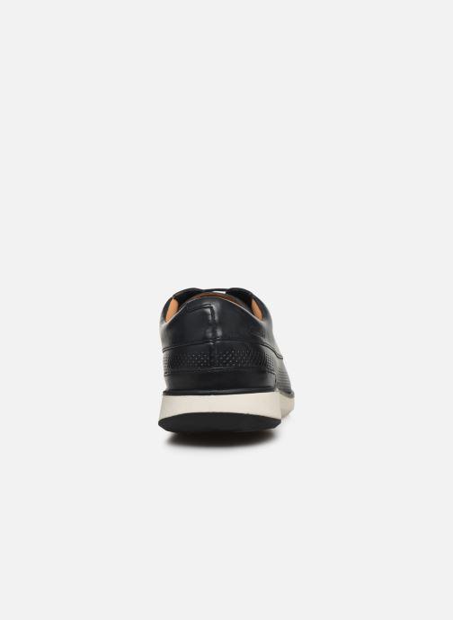 Zapatos con cordones Clarks Helston Walk Azul vista lateral derecha