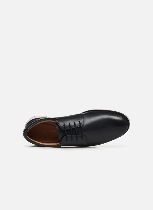 Zapatos con cordones Clarks Helston Walk Azul vista lateral izquierda