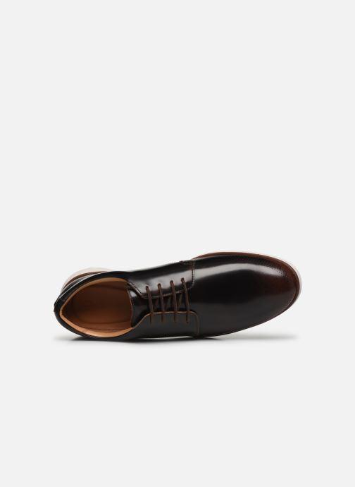 Zapatos con cordones Clarks Helston Walk Marrón vista lateral izquierda