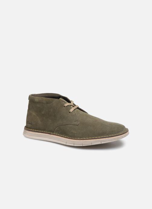 Bottines et boots Clarks Forge Stride Vert vue détail/paire