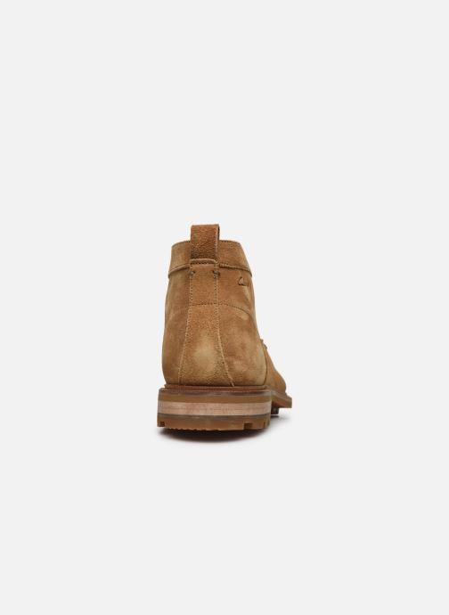 Bottines et boots Clarks Foxwell Mid Beige vue droite