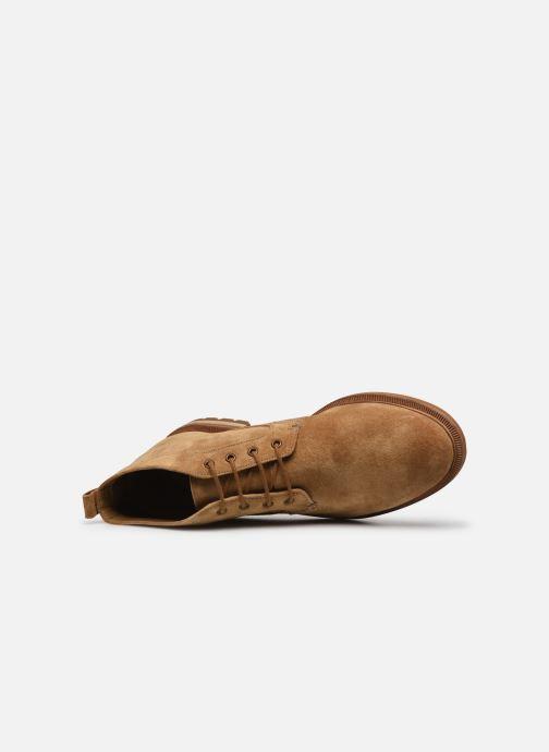 Bottines et boots Clarks Foxwell Mid Beige vue gauche
