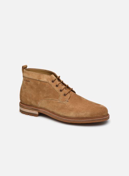 Bottines et boots Clarks Foxwell Mid Beige vue détail/paire