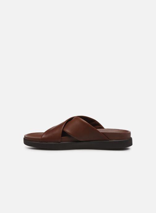 Sandales et nu-pieds Clarks Sunder Cross Marron vue face