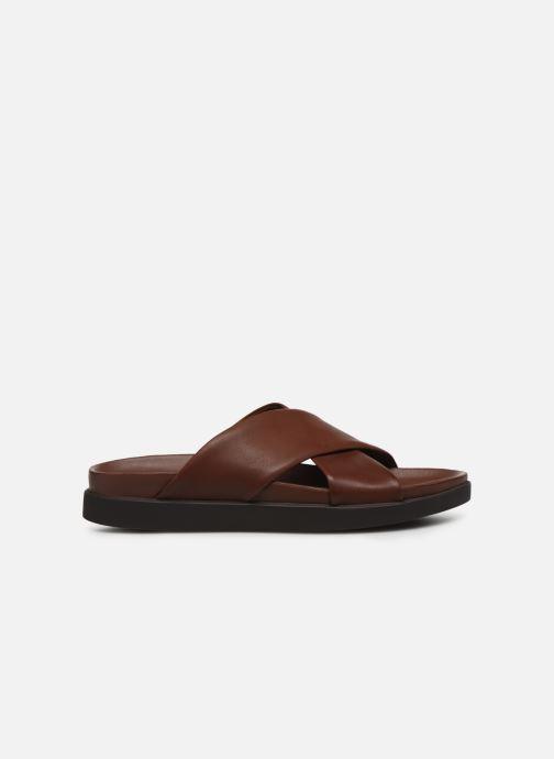 Sandales et nu-pieds Clarks Sunder Cross Marron vue derrière
