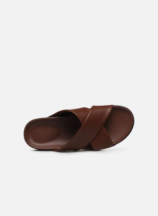 Sandales et nu-pieds Clarks Sunder Cross Marron vue gauche