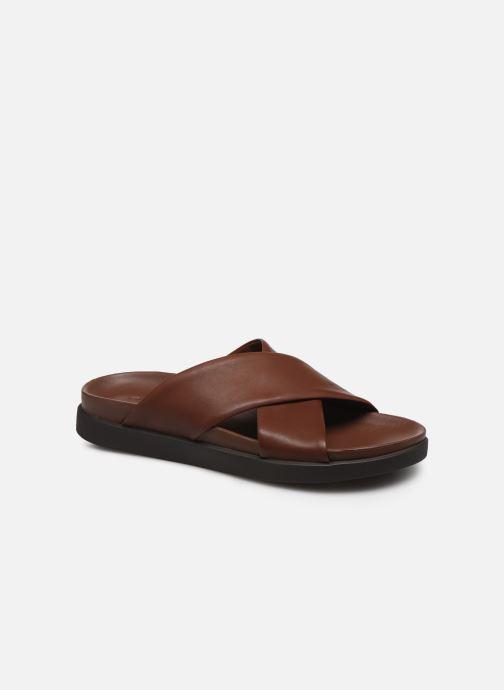 Sandales et nu-pieds Clarks Sunder Cross Marron vue détail/paire