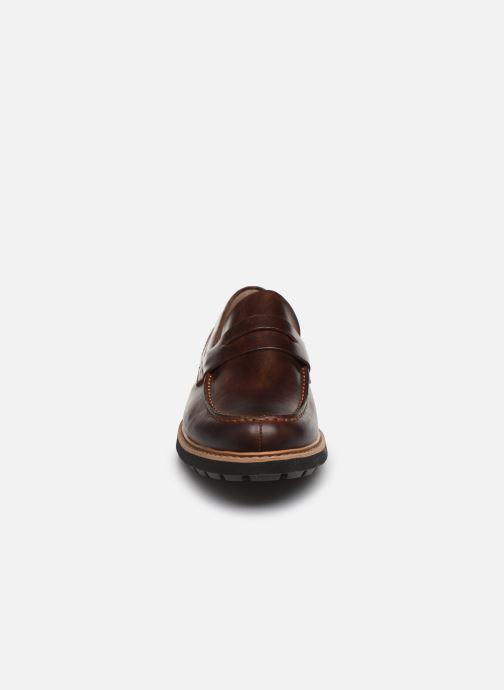 Mocassins Clarks Batcombe Edge Marron vue portées chaussures
