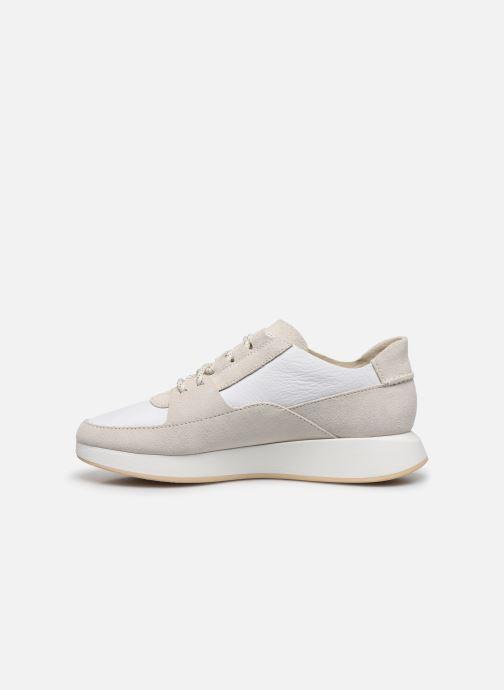 Sneaker Clarks Originals Kiowa Pace. weiß ansicht von vorne