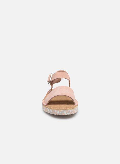 Sandales et nu-pieds Clarks Originals Lunan Strap. Rose vue portées chaussures