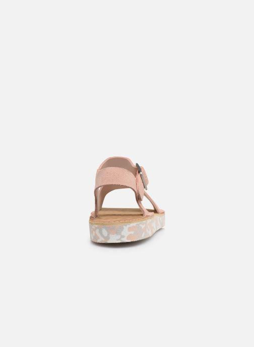 Sandales et nu-pieds Clarks Originals Lunan Strap. Rose vue droite