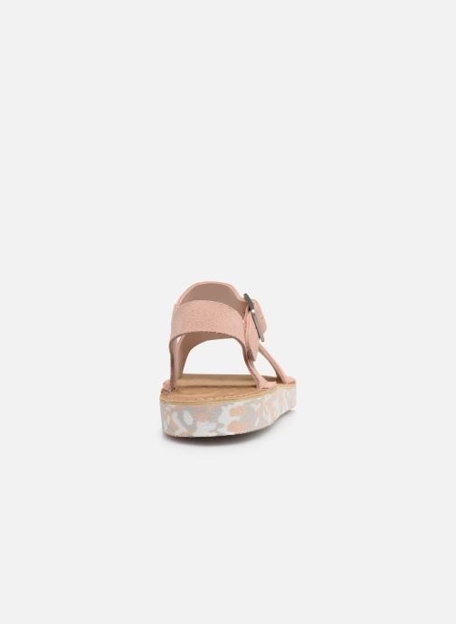 Sandali e scarpe aperte Clarks Originals Lunan Strap. Rosa immagine destra