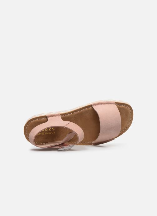 Sandali e scarpe aperte Clarks Originals Lunan Strap. Rosa immagine sinistra