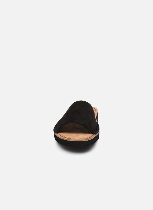 Mules et sabots Clarks Originals Lunan Slide. Noir vue portées chaussures