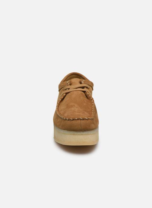 Zapatos con cordones Clarks Originals Wallacraft Lo Marrón vista del modelo