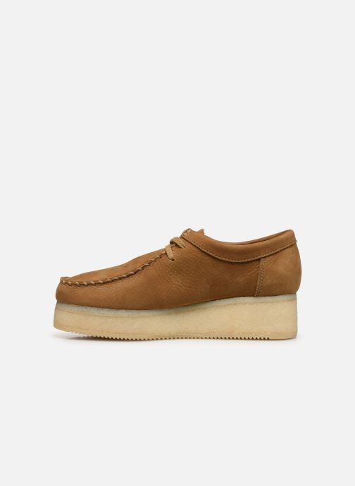Zapatos con cordones Clarks Originals Wallacraft Lo Marrón vista de frente