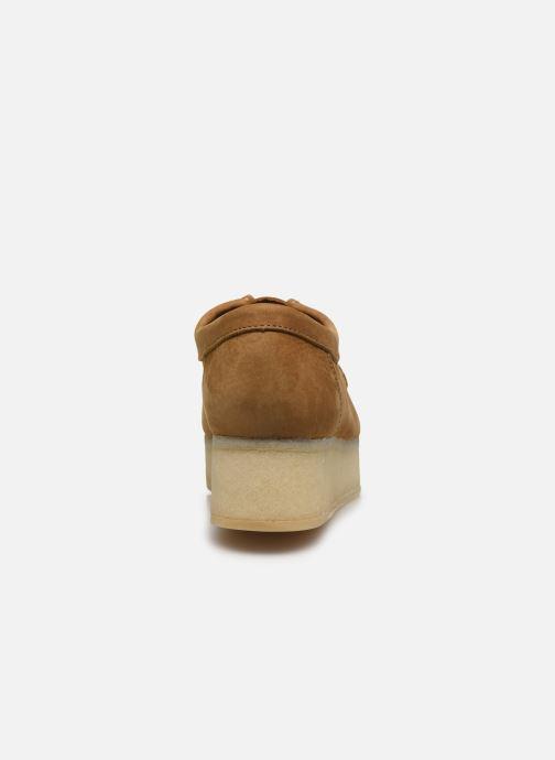 Zapatos con cordones Clarks Originals Wallacraft Lo Marrón vista lateral derecha