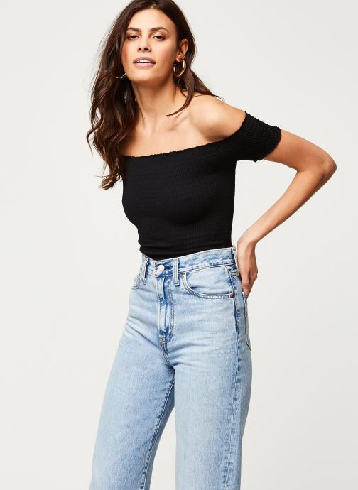 Kleding Free People MOULIN RUCHED CAMI Zwart detail