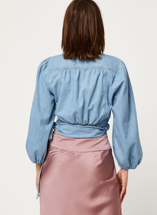 Kläder Free People SOPHIE DENIM TOP Blå bild av skorna på