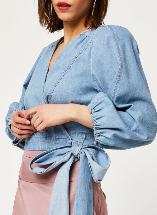 Vêtements Free People SOPHIE DENIM TOP Bleu vue face