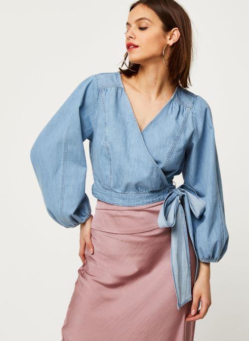 Vêtements Free People SOPHIE DENIM TOP Bleu vue droite