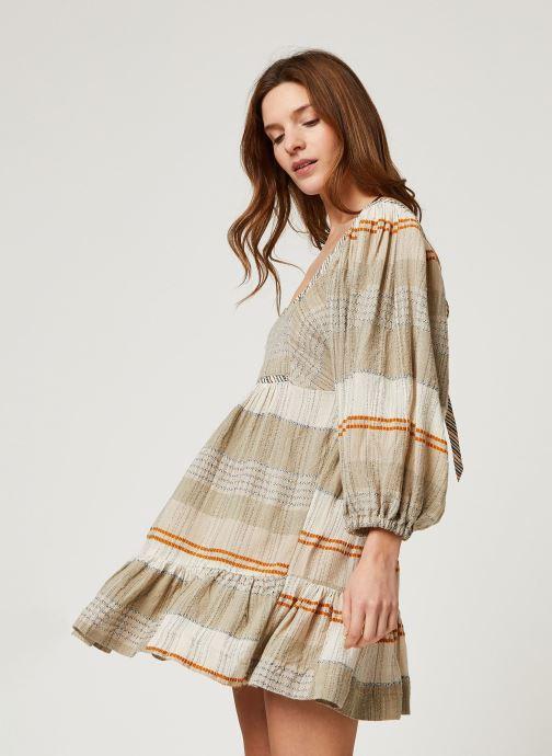 Vêtements Free People COZY STRIPED MINI Beige vue détail/paire