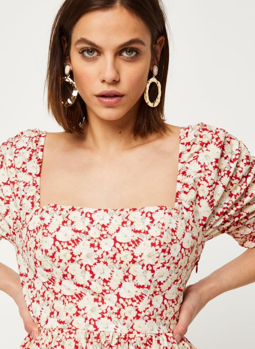 Vêtements Free People SHE'S A DREAM MIDI Rouge vue face