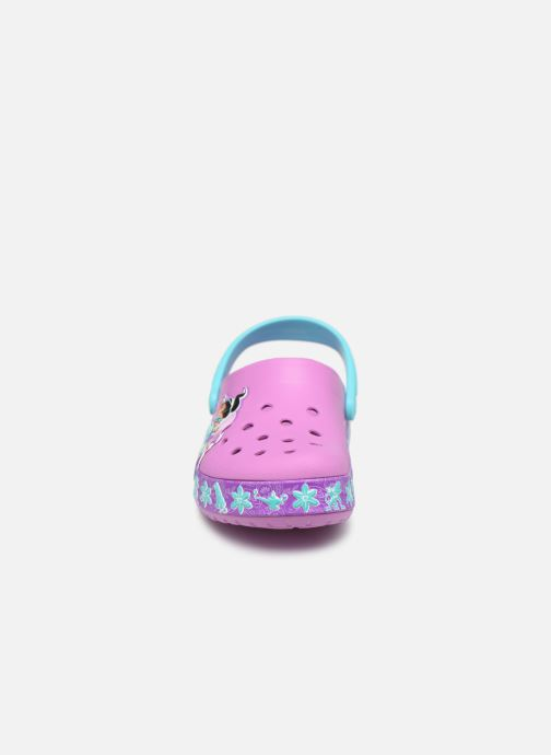 Sandalen Crocs CrocsFL Jasmine Band Clog K lila schuhe getragen