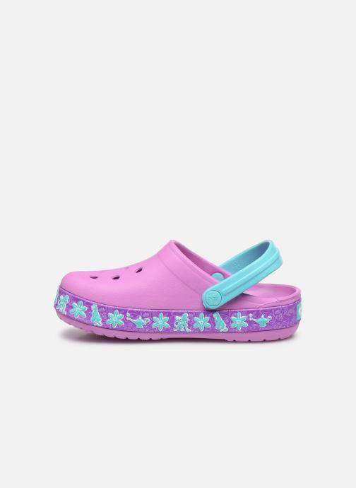Sandales et nu-pieds Crocs CrocsFL Jasmine Band Clog K Violet vue face