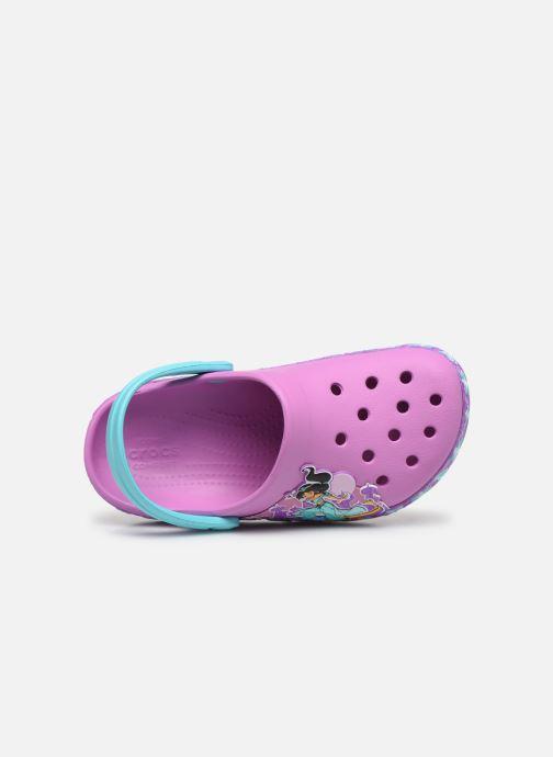 Sandales et nu-pieds Crocs CrocsFL Jasmine Band Clog K Violet vue gauche