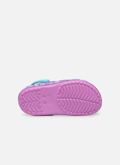 Sandales et nu-pieds Crocs CrocsFL Jasmine Band Clog K Violet vue haut