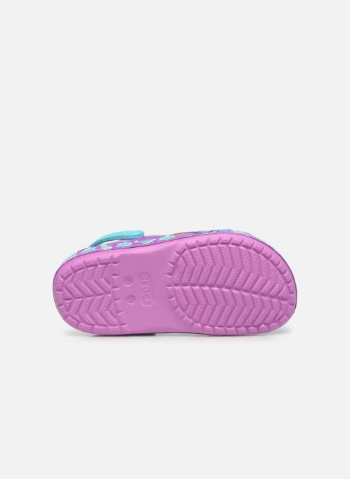 Sandalias Crocs CrocsFL Jasmine Band Clog K Violeta      vista de arriba