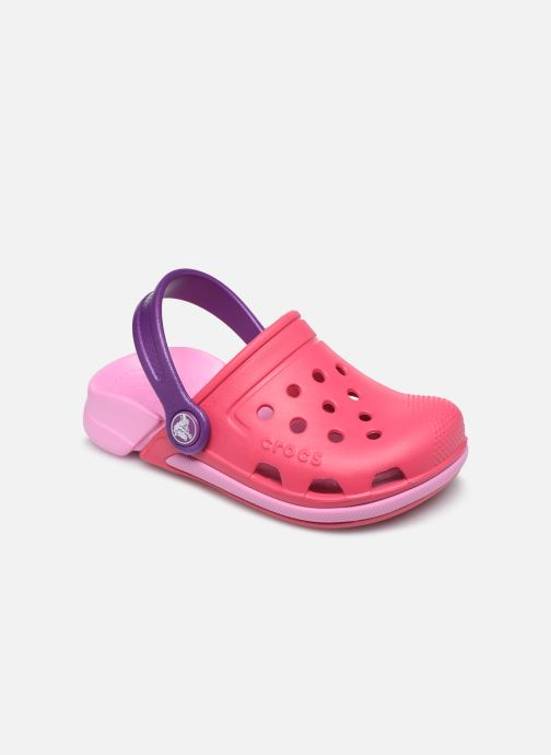 Sandals Crocs Electro III Clog K Pink detailed view/ Pair view