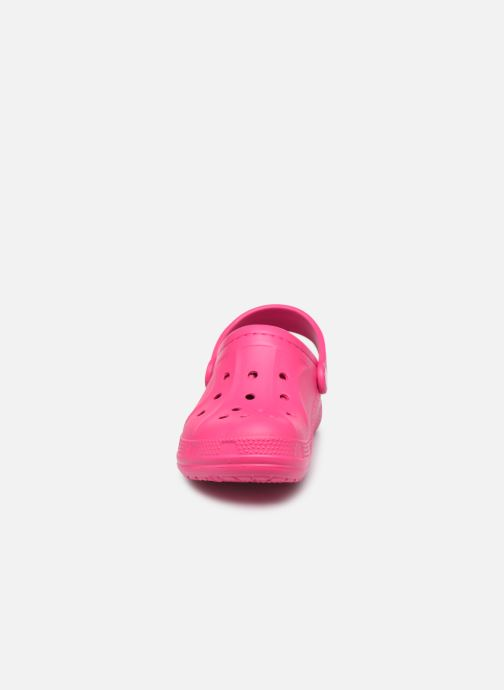 Sandalias Crocs Ralen Lined Clog K Rosa vista del modelo