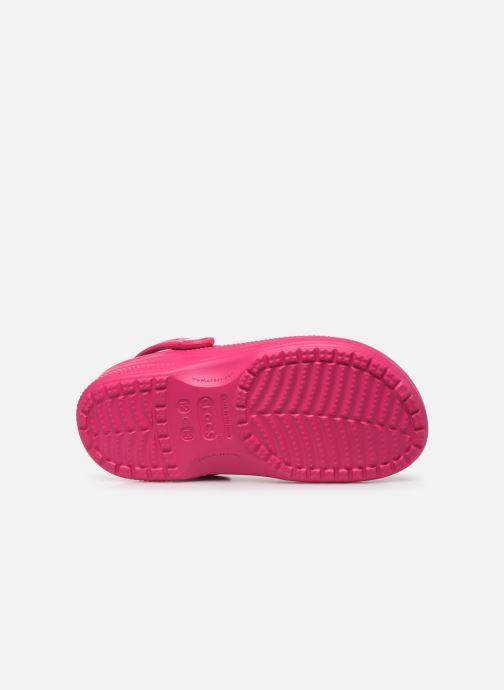 Sandales et nu-pieds Crocs Ralen Lined Clog K Rose vue haut