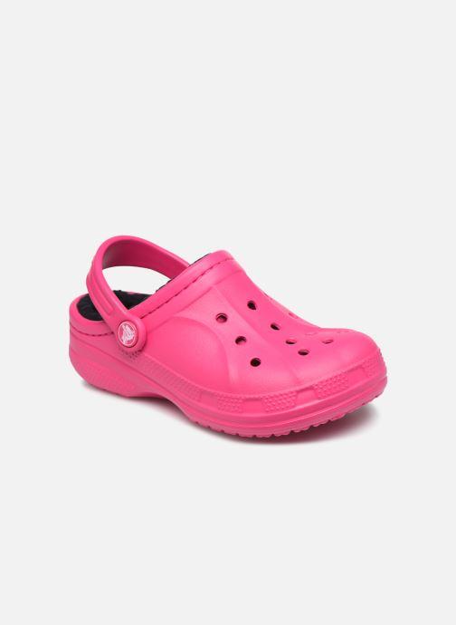 Sandalias Crocs Ralen Lined Clog K Rosa vista de detalle / par