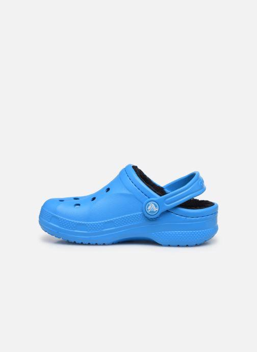 Sandalias Crocs Ralen Lined Clog K Azul vista de frente