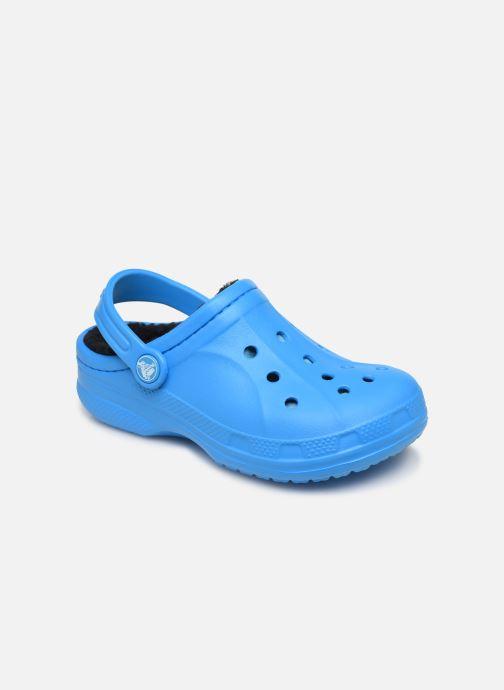 Sandales et nu-pieds Crocs Ralen Lined Clog K Bleu vue détail/paire