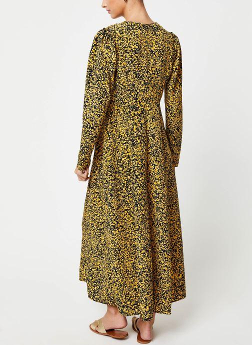 Vêtements Selected Femme Slfjuana LS Ankle Dress Noir vue portées chaussures